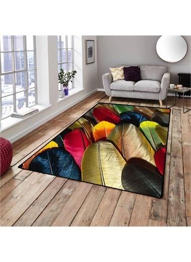Halı Tüylü Dekoratif Modern 3D Salon Halıları 80X150Cm Renkli
